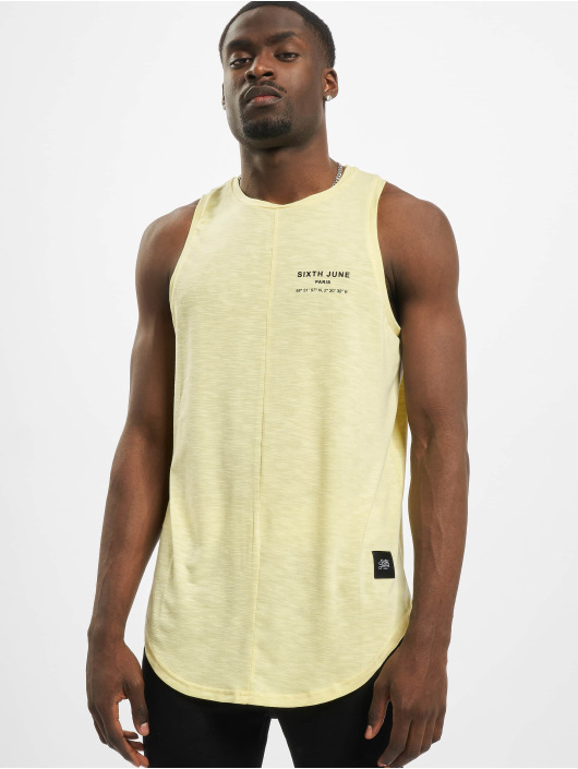 Sixth June Tank Tops Rounded With Gps Print zólty