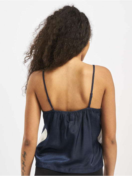 Sixth June Top Satin With Sides White Ban azul