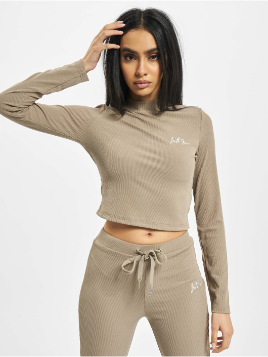 Sixth June top Ribbed Crop beige