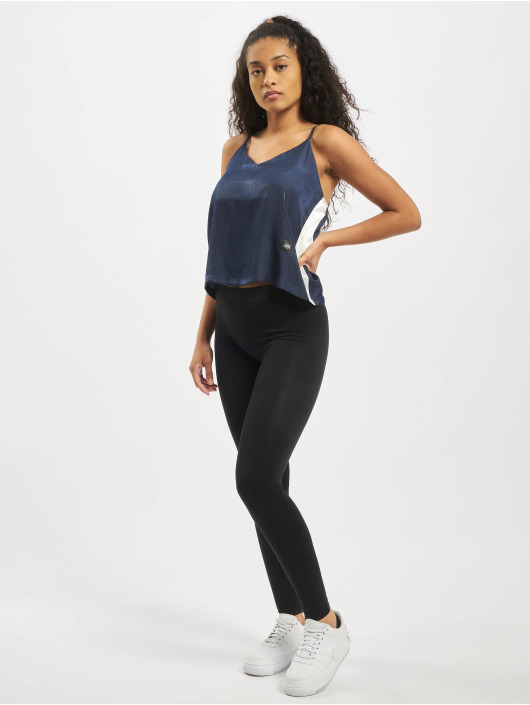 Sixth June Top Satin With Sides White Ban blå