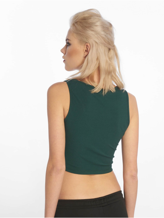 Sixth June Top Rib Crop green