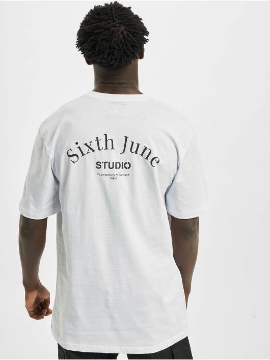 Sixth June Tričká Studio biela