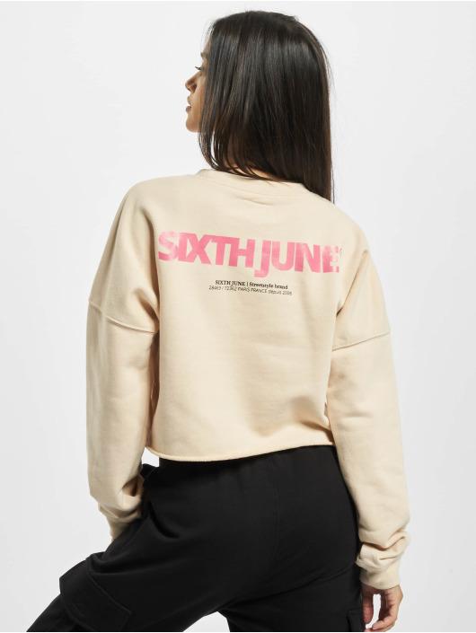 Sixth June Tröja Essential Crop beige