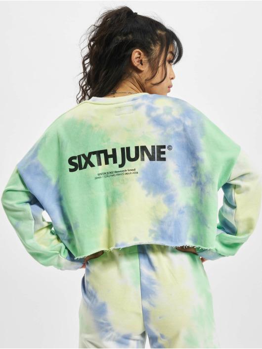 Sixth June Tröja Tie&dye Cropped blå