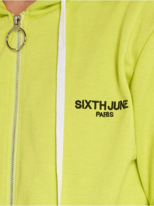 Sixth June Veste mi-saison légère Stripe jaune