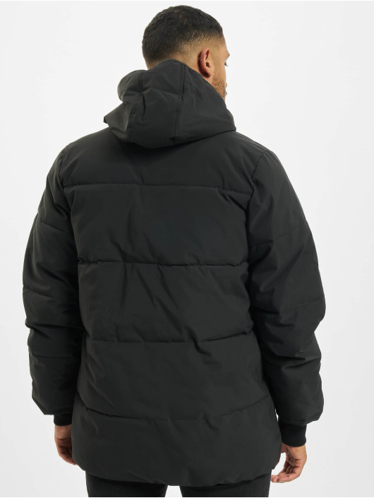Sixth June Winter Jacket Long Down With Chest Zip black