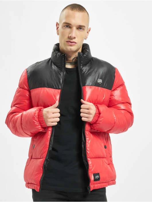 Sixth June Winter Jacket Bicolor Vinyl Down red