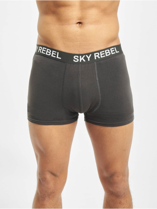 Sky Rebel Boxer Double Pack gris