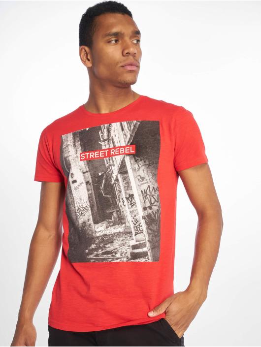 Sky Rebel Camiseta Loui rojo
