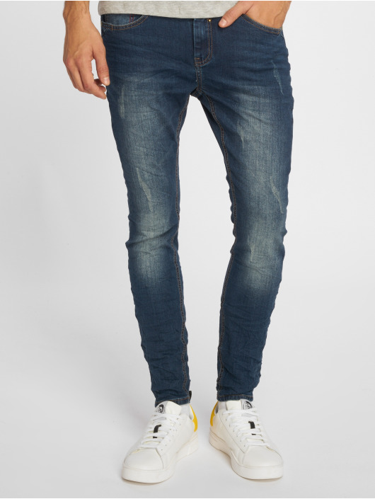 Sky Rebel Skinny Jeans Stone Washed blau