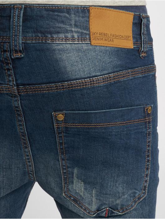 Sky Rebel Skinny jeans Stone Washed blauw