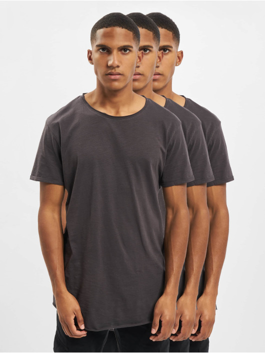 Sky Rebel T-Shirt Basic 3-Pack gris