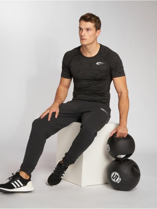 Smilodox Kompresjon shirt Seamless Camo Pattern grå
