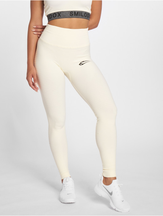 Smilodox Leggings/Treggings Yura High Waist bezowy