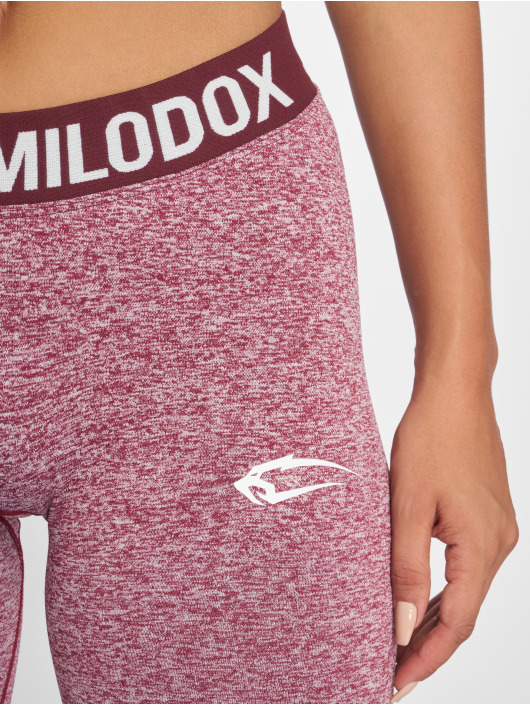 Smilodox Leggings/Treggings Seamless Recent czerwony