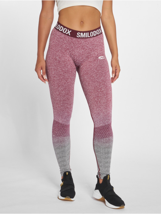 Smilodox Leggings/Treggings Seamless Recent red