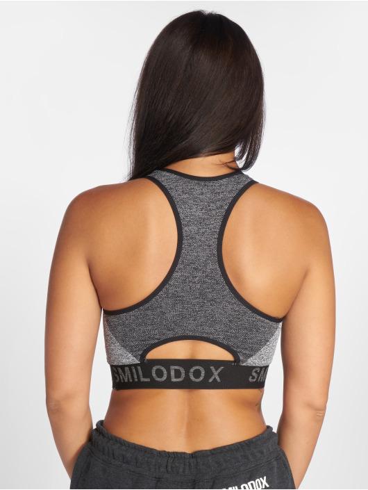 Smilodox Sport BH Seamless Cut grau
