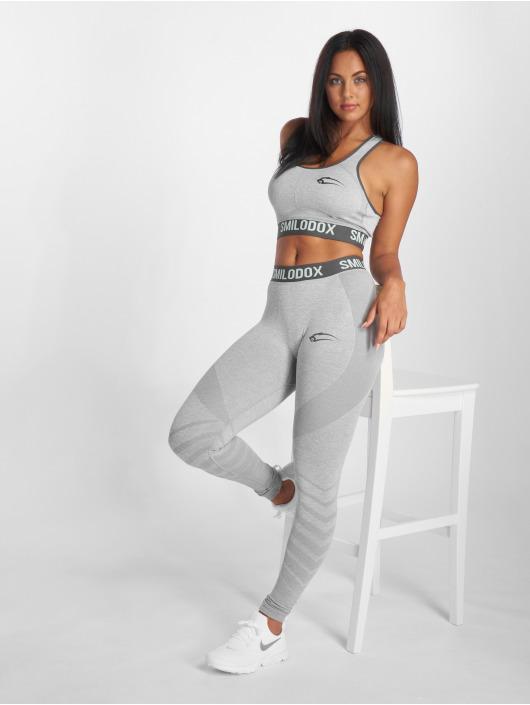 Smilodox Sports Bra Seamless Cut gray