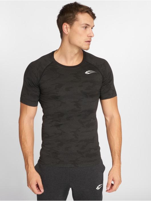 Smilodox T-shirts compression Seamless Camo Pattern gris