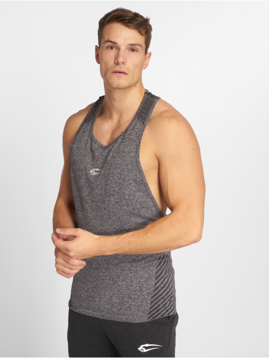 Smilodox Tank Tops Seamless Brave grey