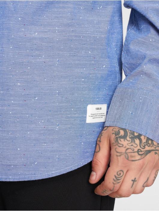 Solid overhemd Ohara blauw