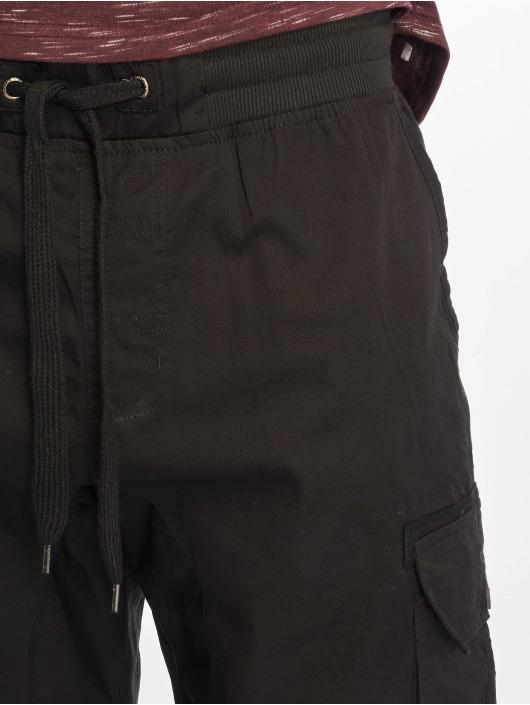 Southpole Šortky Jogger Cargo Fine Twill čern
