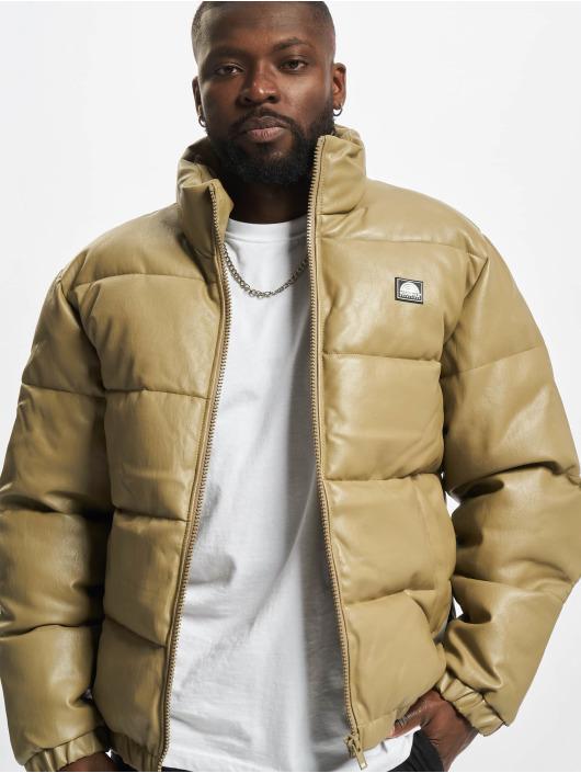 Southpole Зимняя куртка Imitation Leather Bubble хаки