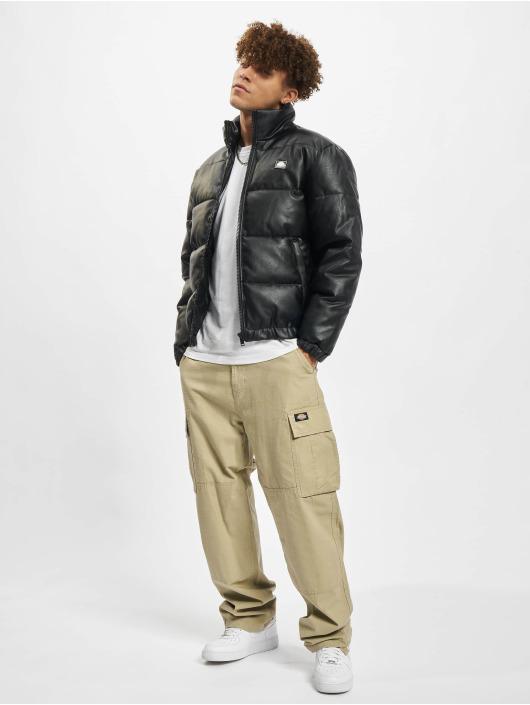 Southpole Зимняя куртка Imitation Leather Bubble черный
