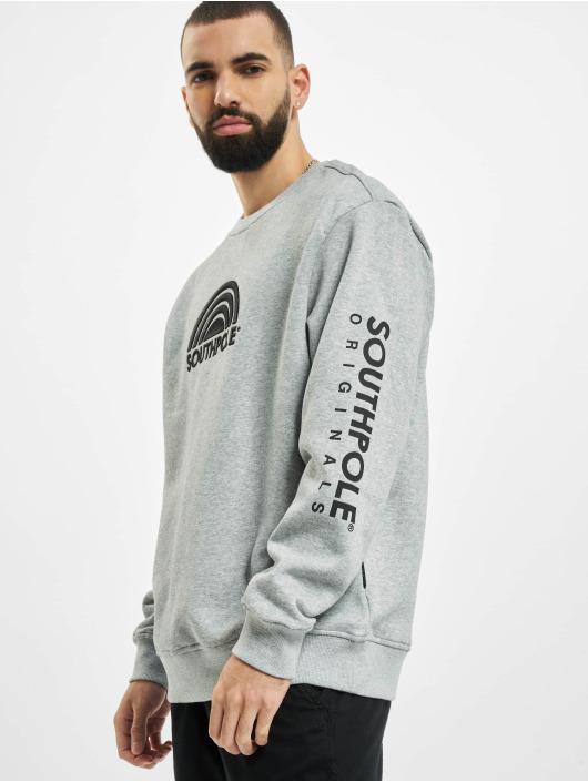 Southpole Пуловер Halfmoon серый