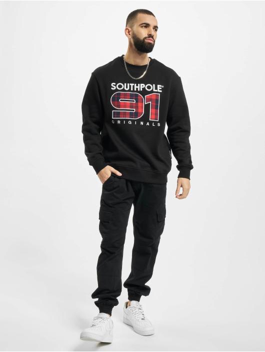 Southpole Пуловер Check черный