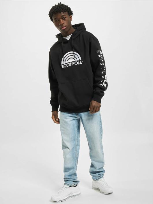Southpole Bluzy z kapturem 3D Embroidery czarny