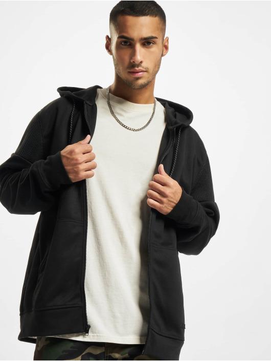 Southpole Bluzy z kapturem Neoprene Block Tech Fleece Full Zip czarny