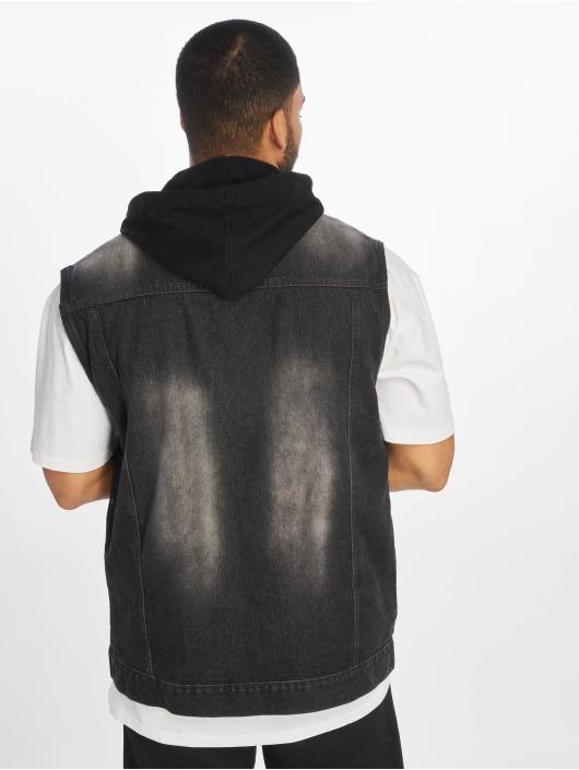 Southpole Bodywarmer Hooded zwart