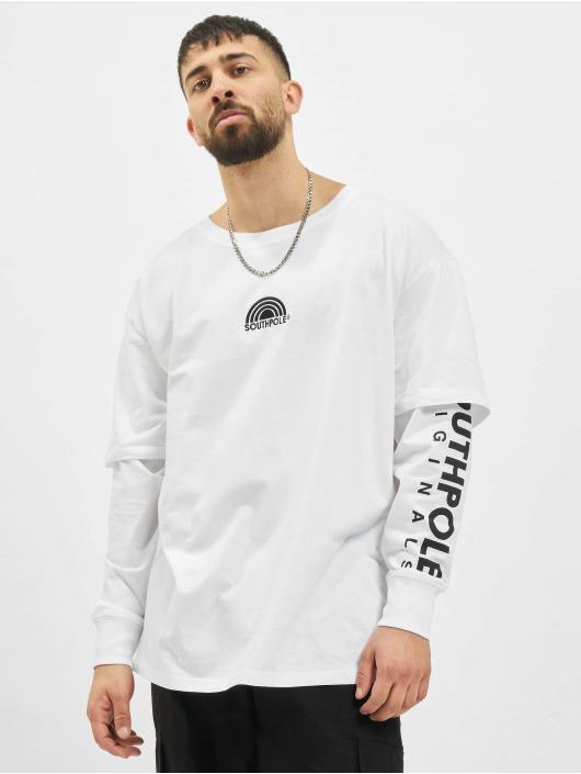 Southpole Camiseta de manga larga Basic Double Sleeve blanco