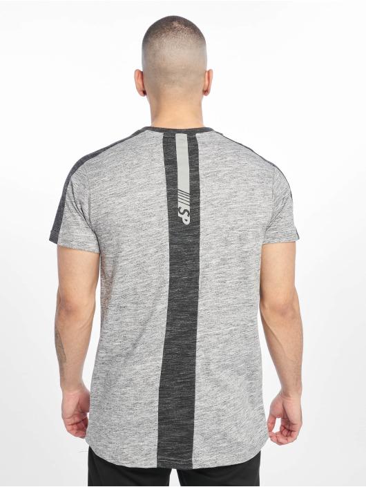 Southpole Camiseta Shoulder Panel Tech gris