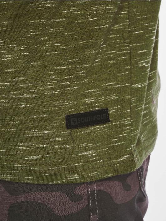 Southpole Camiseta Color Block Tech oliva