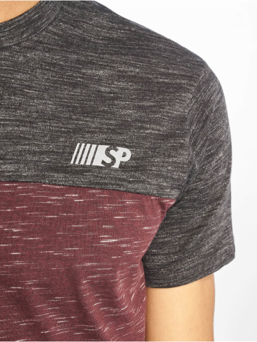 Southpole Camiseta Color Block Tech rojo