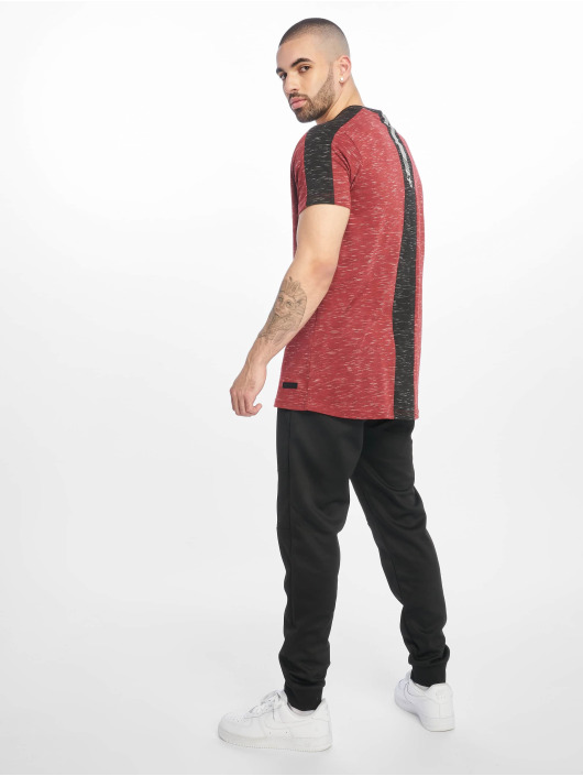 Southpole Camiseta Shoulder Panel Tech rojo