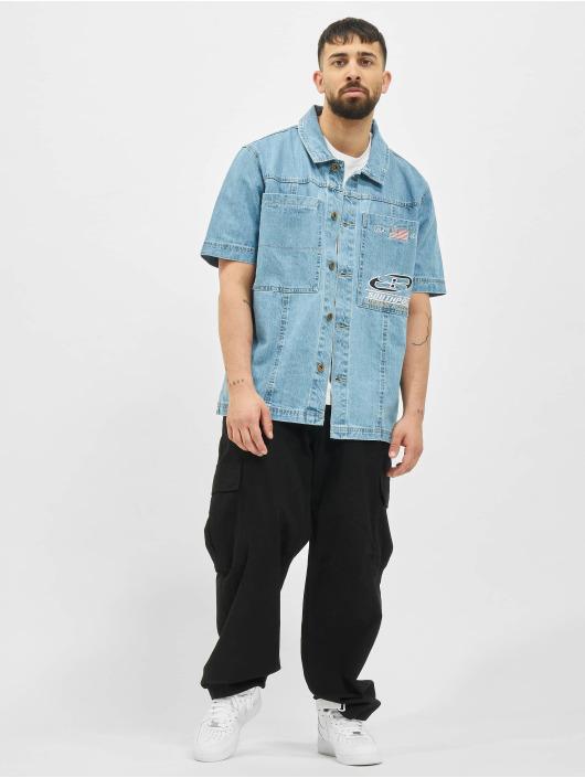 Southpole Chemise Shirt bleu