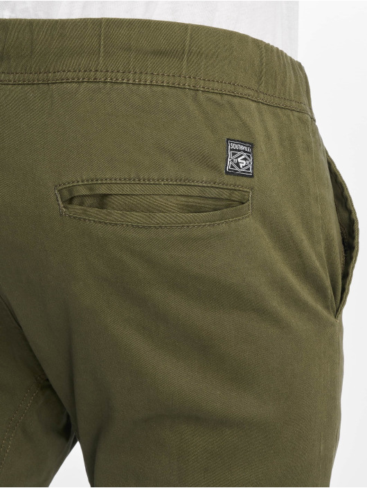 Southpole Chinos Stretch oliven