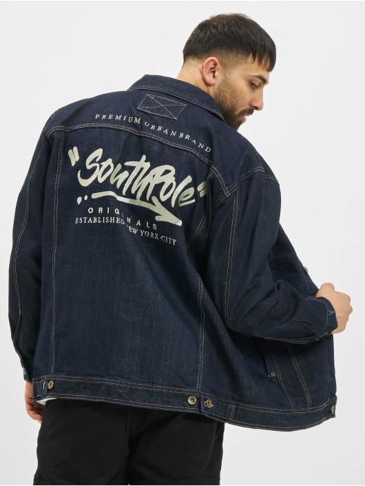Southpole Denim Jacket Script indigo