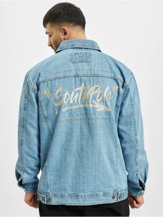 Southpole Giacca Jeans Script blu