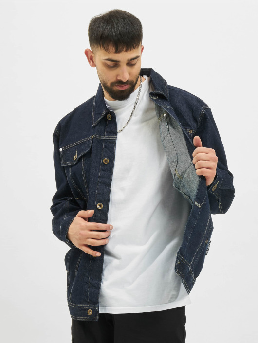 Southpole Giacca Jeans Script indaco