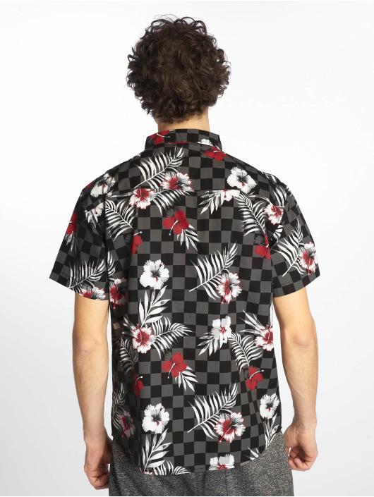 Southpole Hemd Flower & Checker Print schwarz