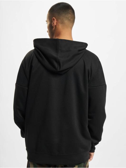Southpole Hoodie Neoprene Block Tech Fleece Full Zip svart