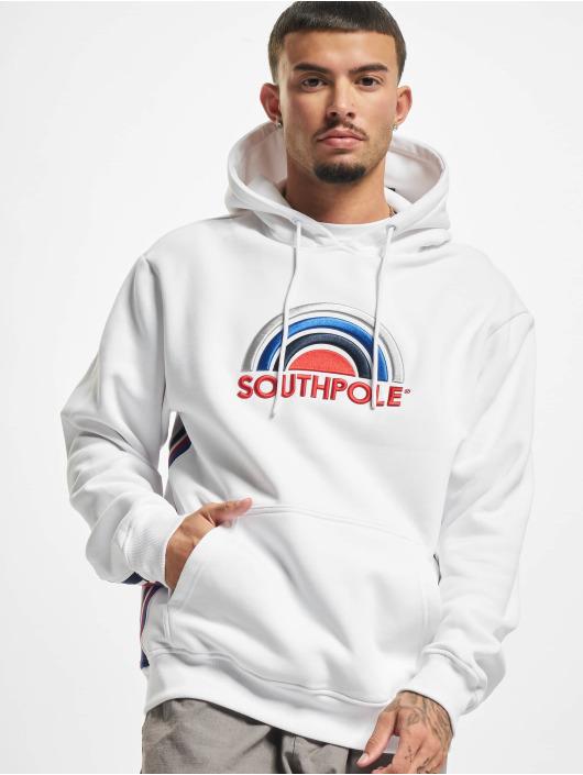 Southpole Hoodie Multi Color Logo vit