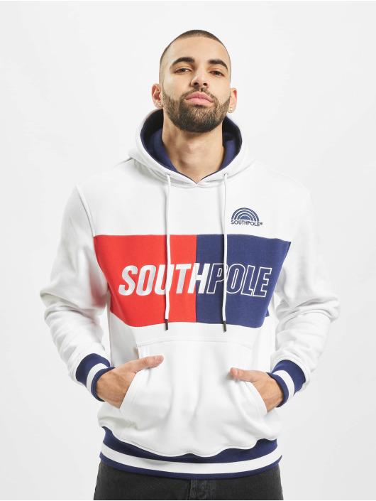 Southpole Hoodie Block Logo white