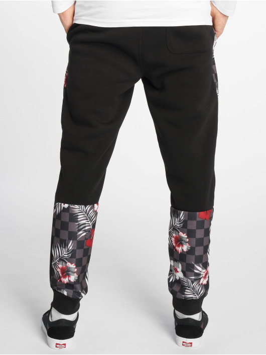 Southpole Joggebukser Floral svart