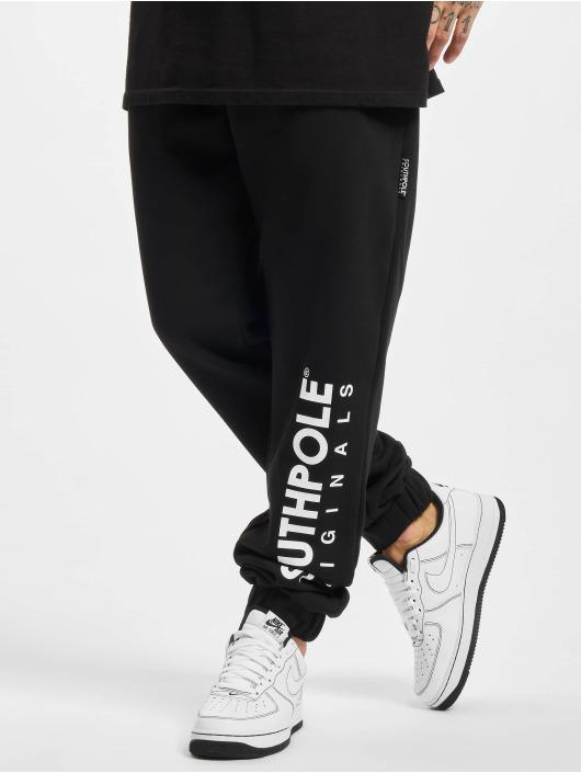 Southpole Jogging kalhoty Basic čern