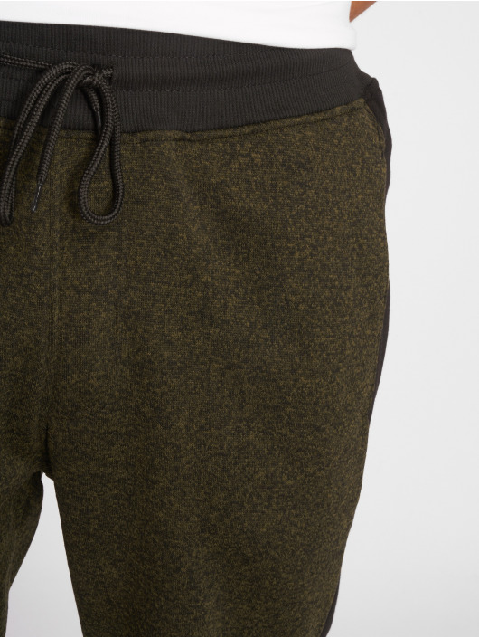 Side Marled Southpole Fleece Olive Homme Jogging Panel 506323 PiXZuk